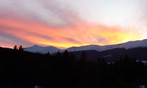 Breckenridge Sunset over Ten Mile Range from Alpine Villa